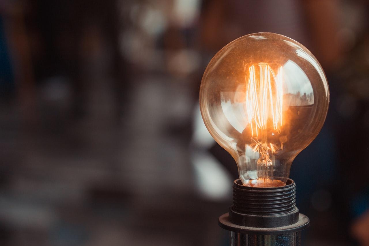 Light Bulb from Solar Panel Generated Energy in Dublin