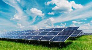 Domestic solar panels Ireland ground mounted.