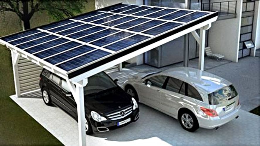Electric Vehicle car charging shelter with solar energy